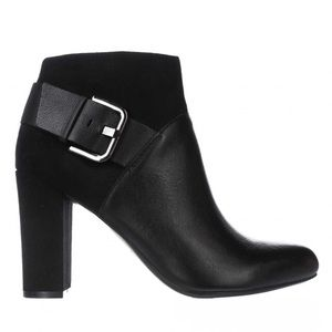 BAR 3 Buckled Suede Leather Ankle Boots Booties